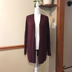💕🌵NWT GAP Burgundy Longline Cardigan Medium